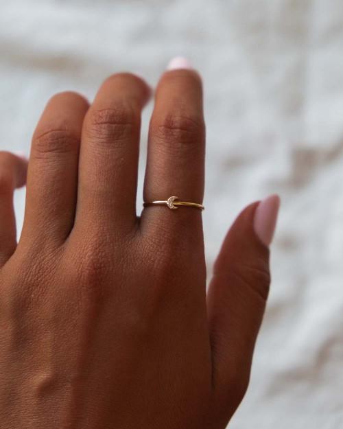 Mini-Luna Brillo Ring