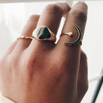 Big Plain Gold | Creu | Shop online | Plain and simple ring, made of  925 Sterling Silver and 18K Gold Plated.