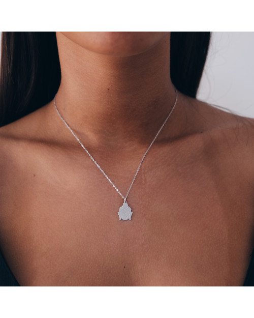 Buda Silver| Creu |Shop online | Beautiful necklace, made of 925 Sterling Silver and a buda.